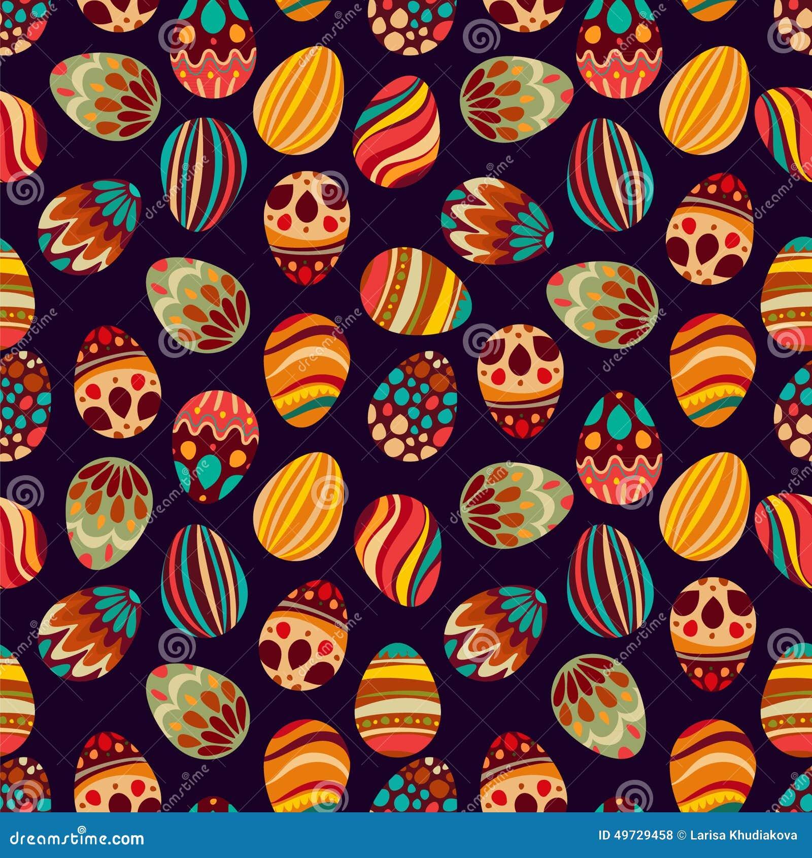 Joyeuses Pâques ! Les vacances heureuses eggs le modèle, fond sans couture pour votre design de carte de salutation Oeufs de pâqu