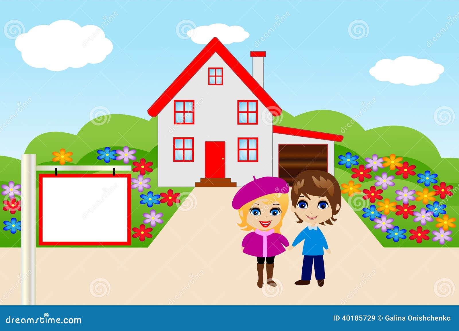 Joyeuses paires d 39 une mani re amusante sur un fond une for Achat nouvelle maison
