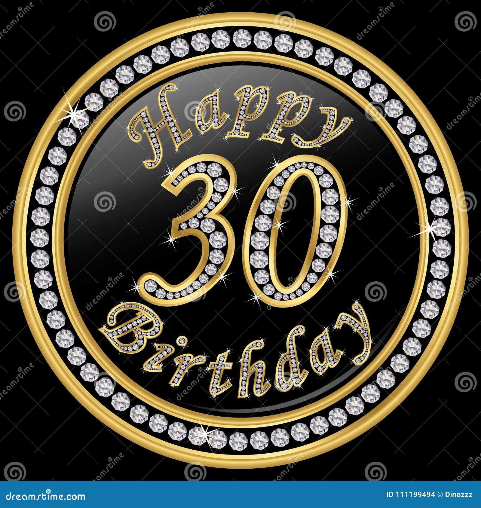 Joyeux 30eme Anniversaire Joyeux Anniversaire 30 Ans Icone D Or