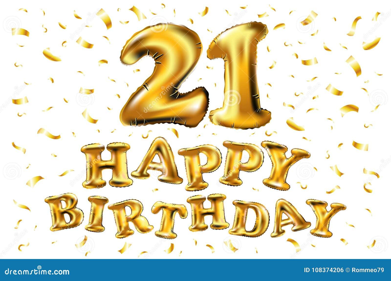 Carte d'anniversaire pour 21 ans