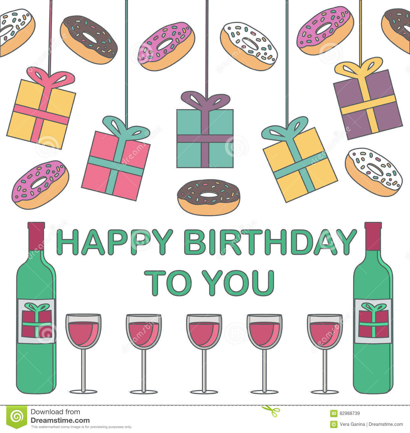 Joyeux Anniversaire Cadeaux Butées Toriques Et Vin Sur Un