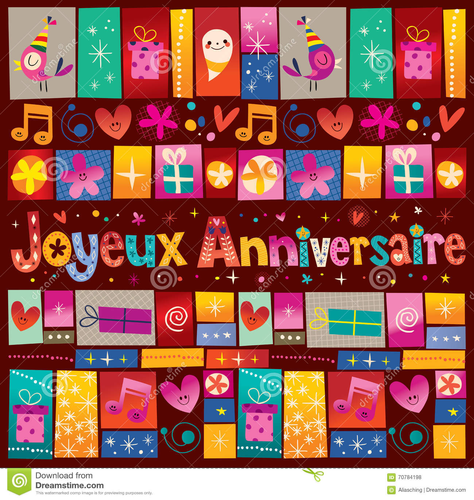 Joyeux anniversaire happy birthday in french stock vector joyeux anniversaire happy birthday in french kristyandbryce Gallery
