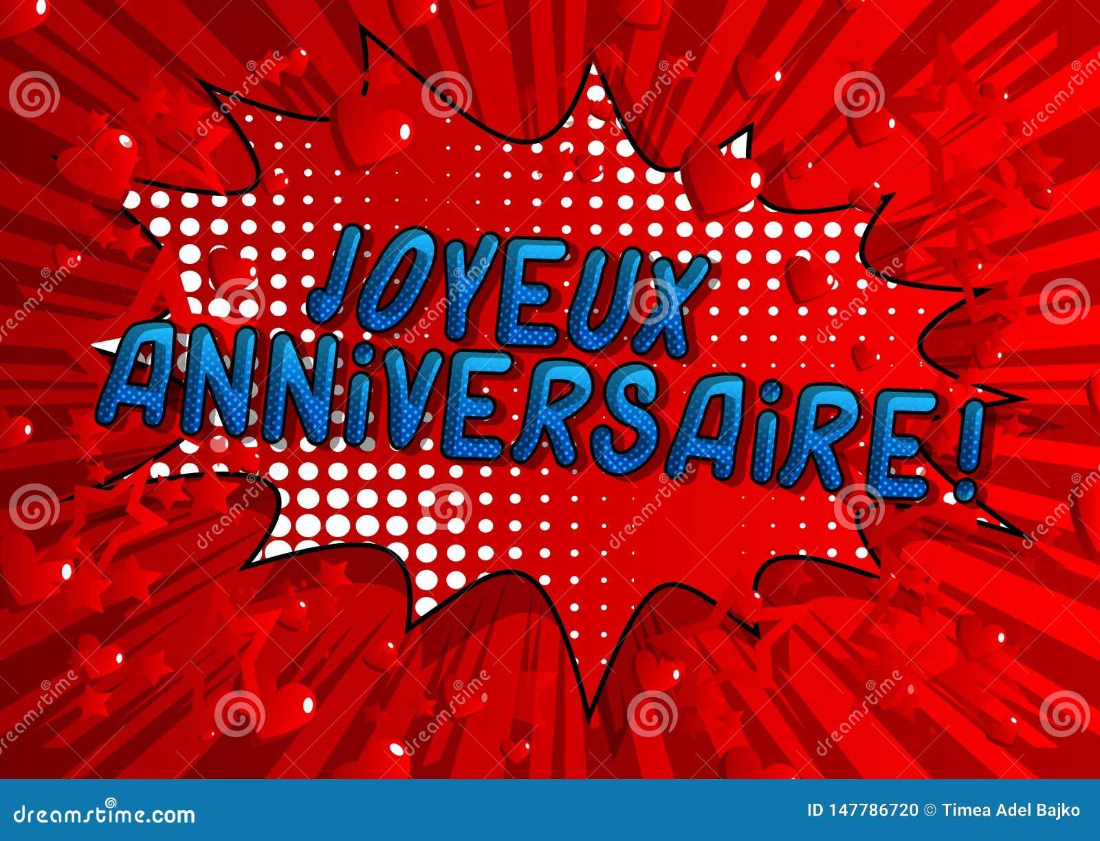 Joyeux Anniversaire! Happy Birthday In French Stock Vector