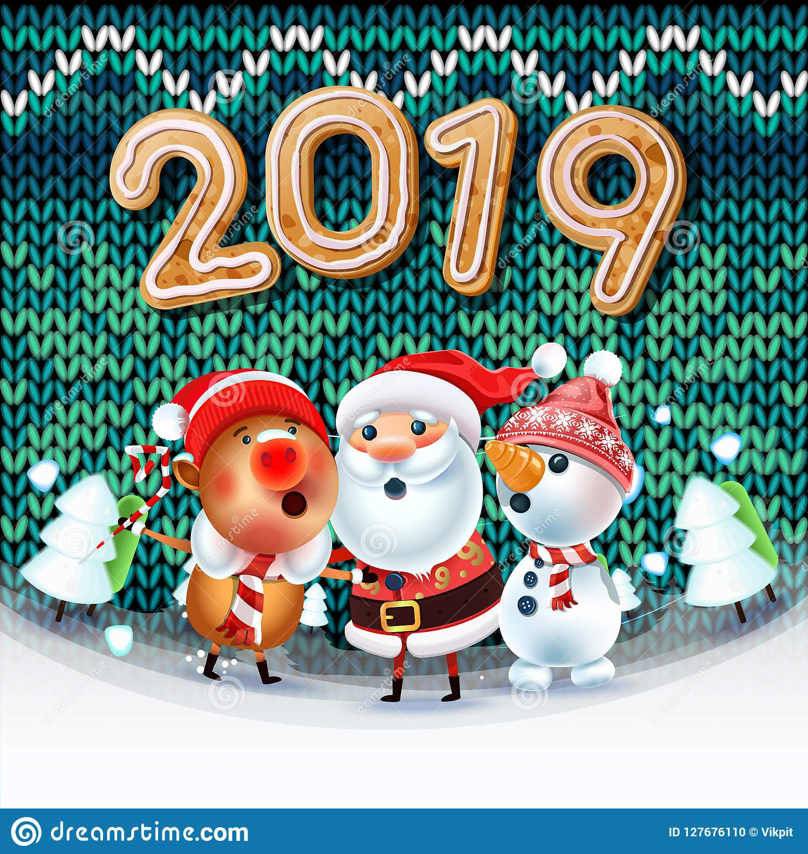 Chanson Joyeux Noel.Joyeux Noel 2019 Illustration De Vecteur Illustration Du