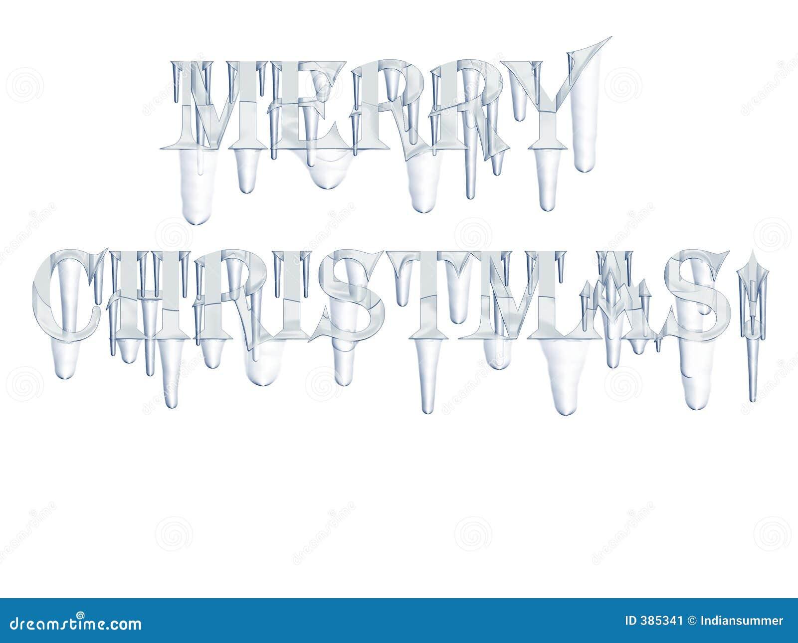 Joyeux Noël ! avec des glaçons
