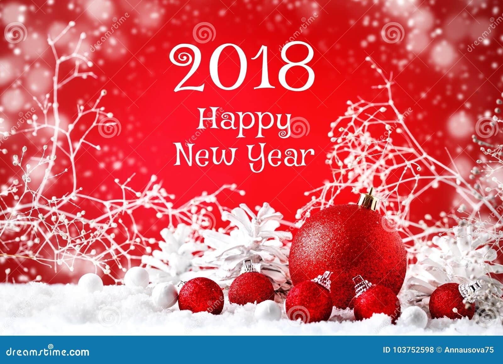Joyeux Noël et bonne année Un fond du ` s de nouvelle année avec des décorations de nouvelle année, fond avec l espace de copie