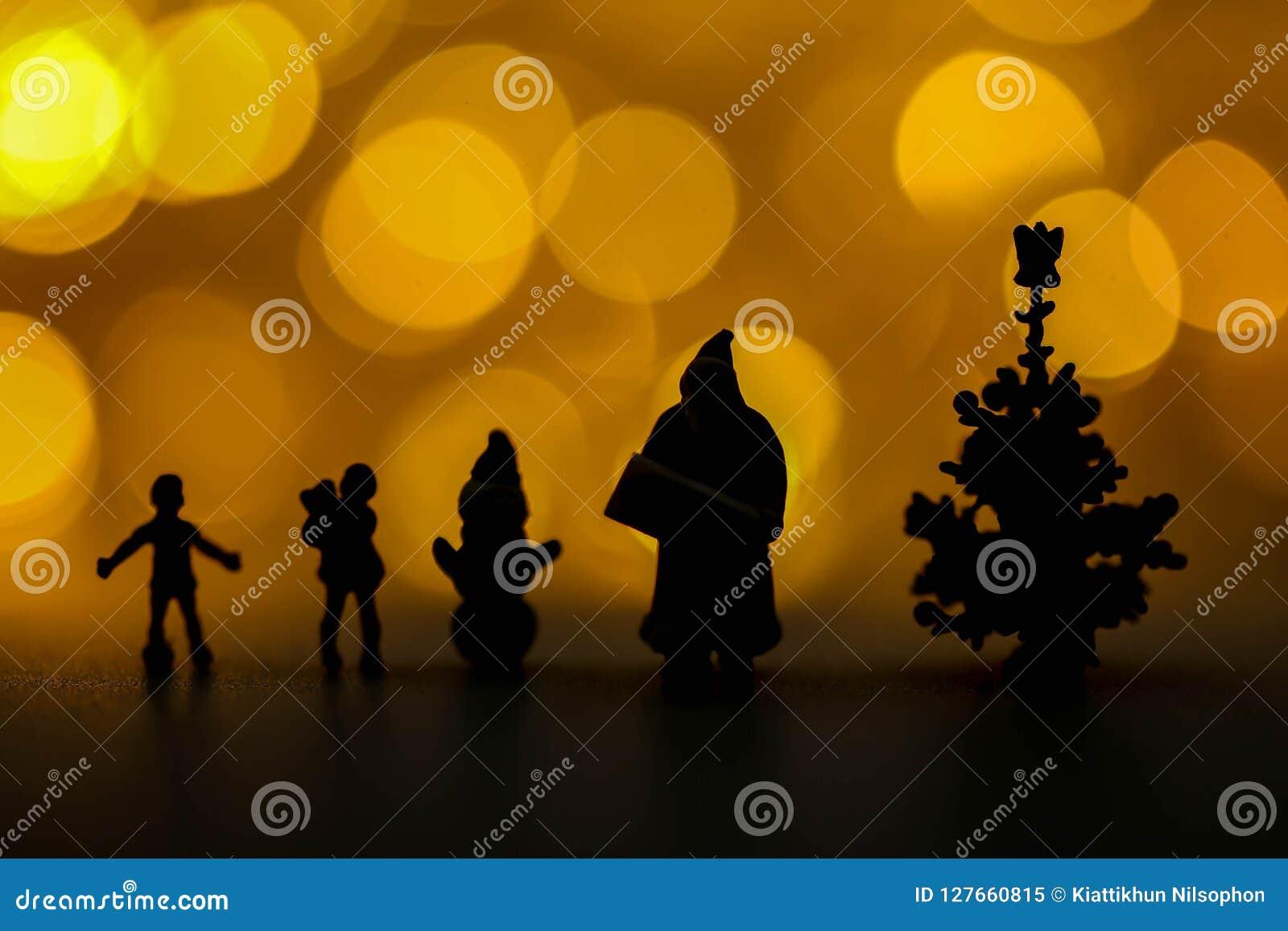 Joyeux Noël et personnes miniatures de bonne année : Enfants W