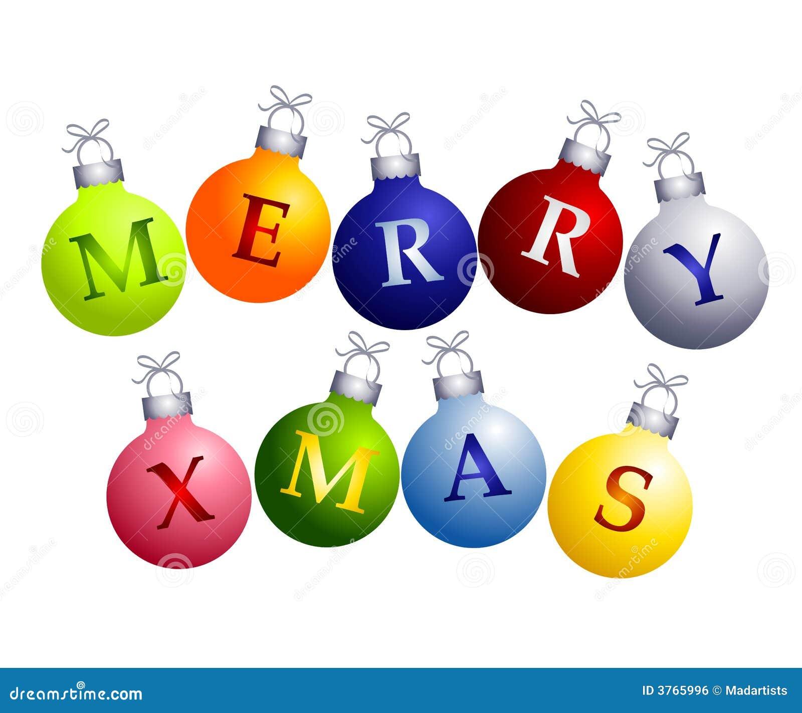 Joyeux Noël sur des ornements