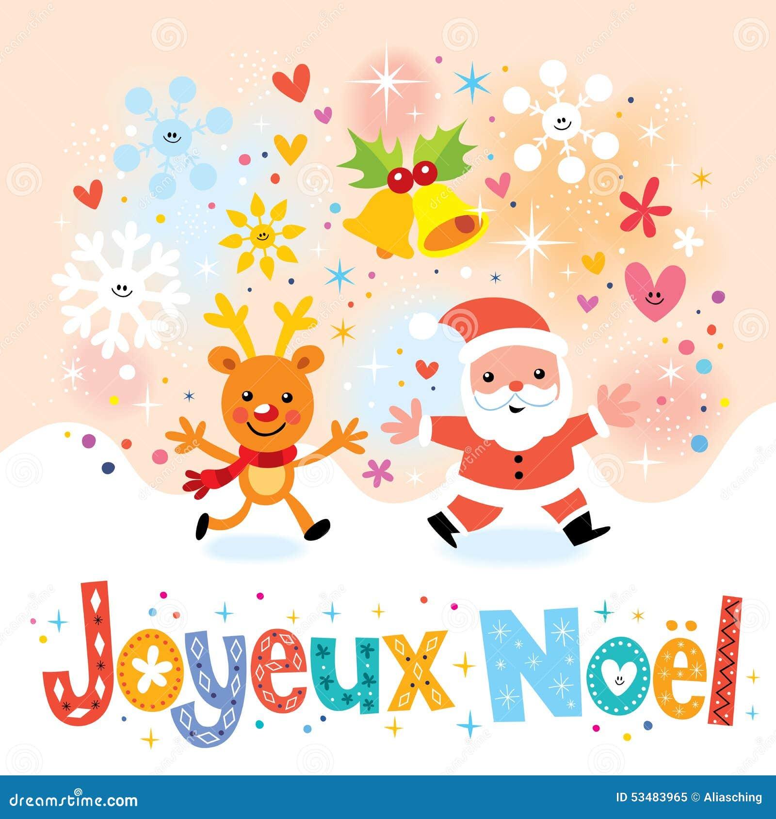 Auguri Di Buon Natale Francese.Joyeux Noel Buon Natale Nella Cartolina D Auguri Francese