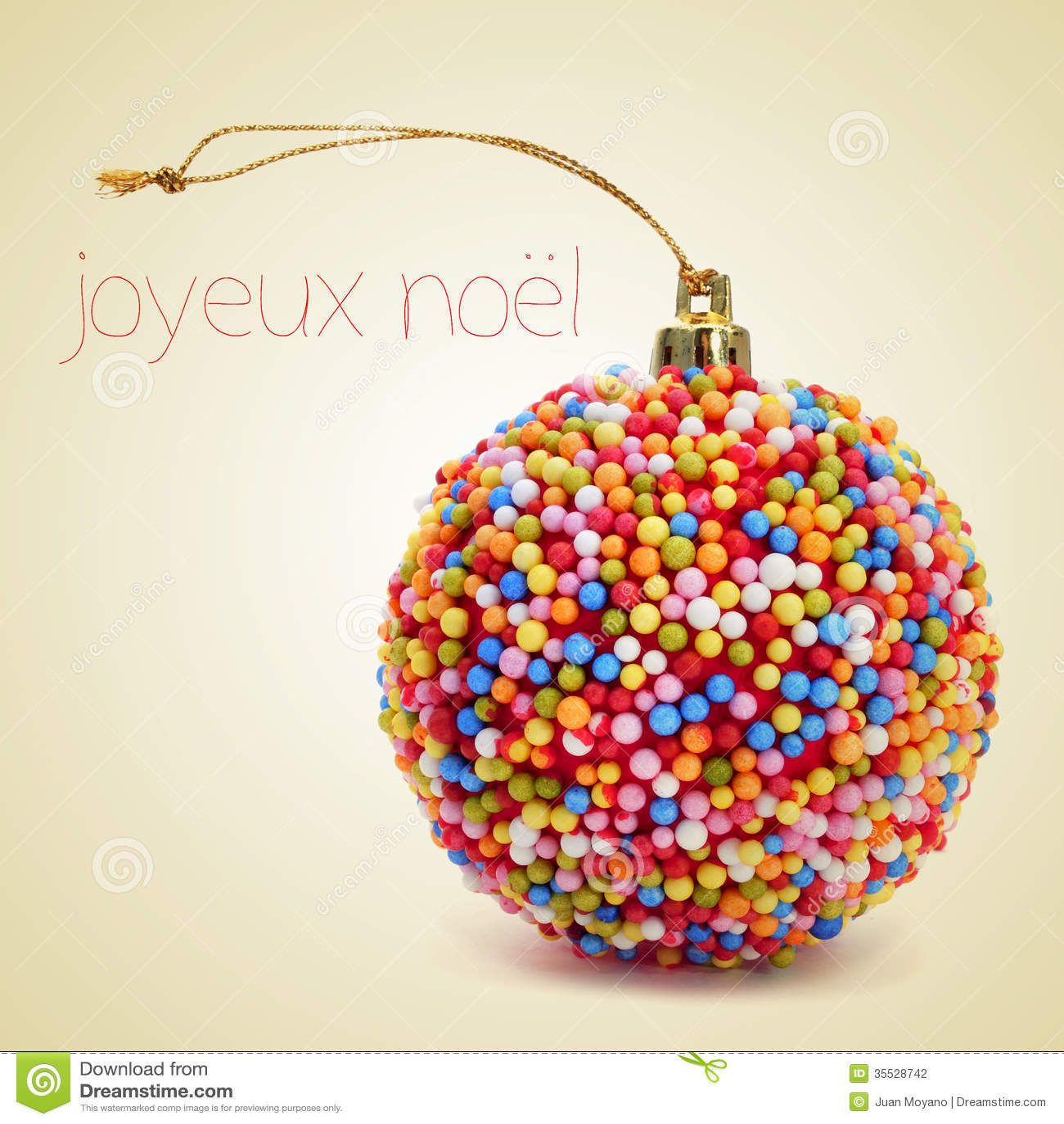 joyeux noel frohe weihnachten auf franz sisch stockfoto. Black Bedroom Furniture Sets. Home Design Ideas