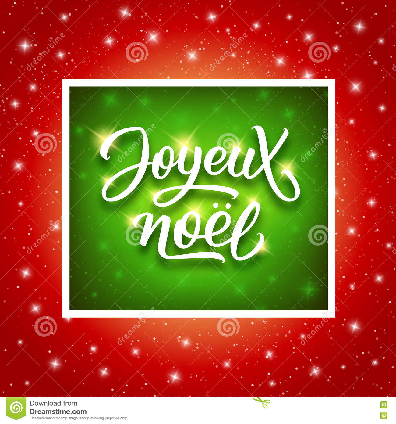 download joyeux noel lettering merry christmas on french stock vector illustration of glowing - Merry Christmas French
