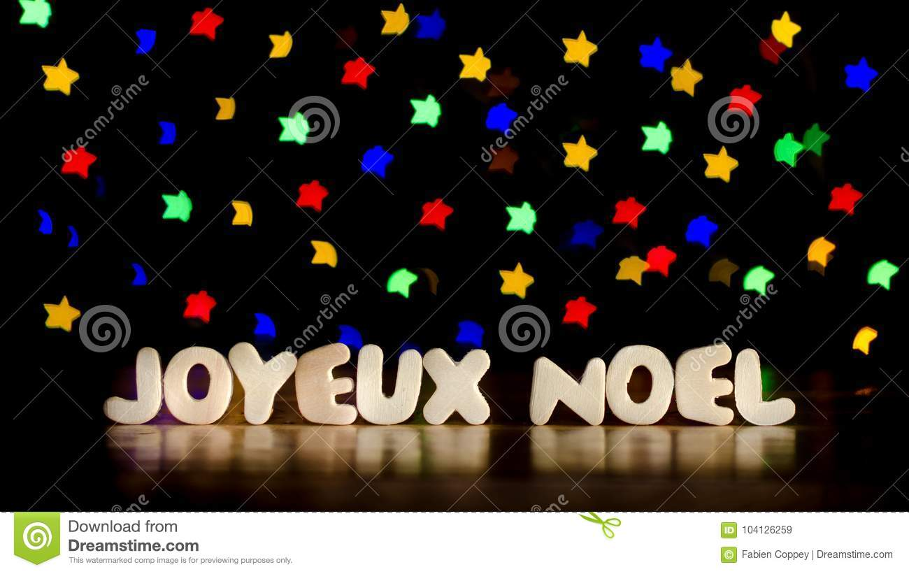 Alphabet Joyeux Noel.Joyeux Noel Merry Christmas In French Language Stock Image
