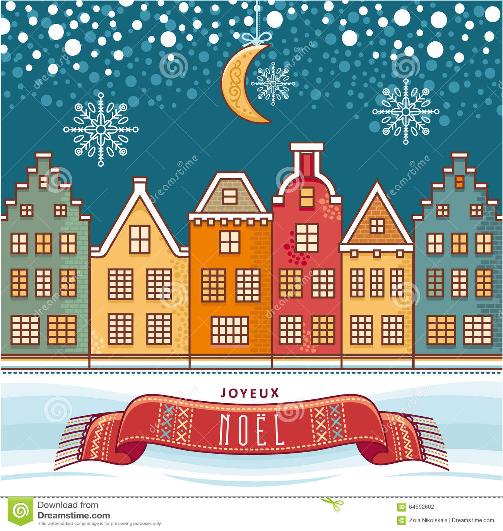 joyeux noel merry christmas in french stock vector. Black Bedroom Furniture Sets. Home Design Ideas