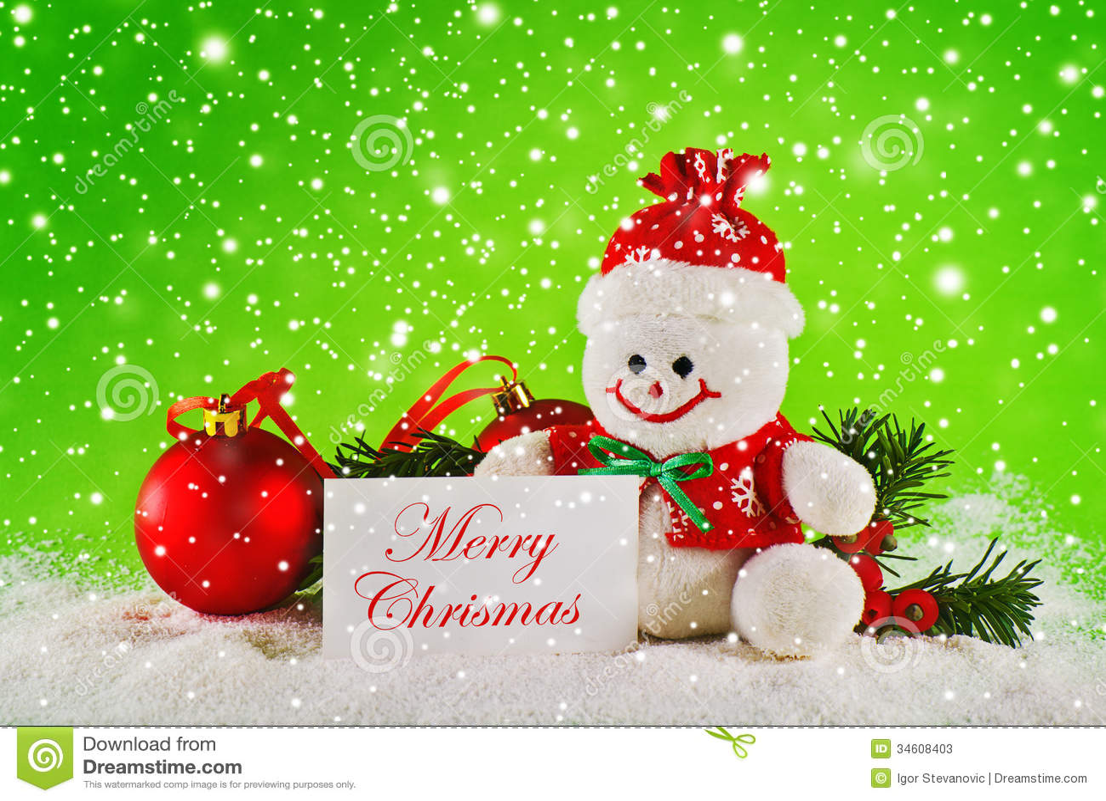 Joyeux no l boules de no l et bonhomme de neige de laine photos stock image 34608403 - Bonhomme de neige en laine ...