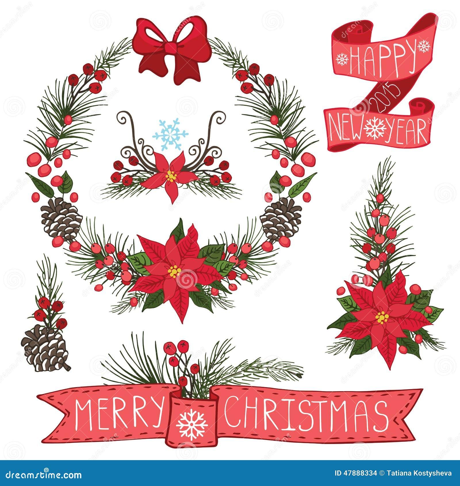 Joyeux no l guirlande de nouvelle ann e rubans groupe illustration de vecteur image 47888334 - Guirlande joyeux noel ...
