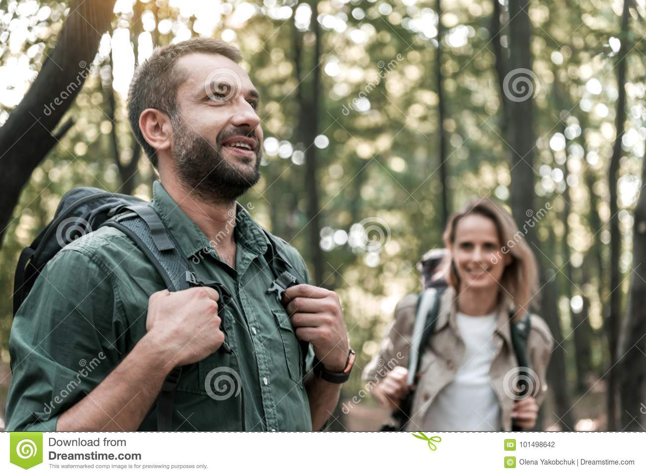 Enjoyment in the forest
