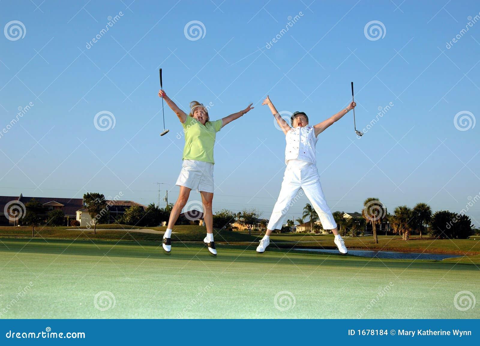 Joyful Lady Golfers Stock Images - Image: 1678184