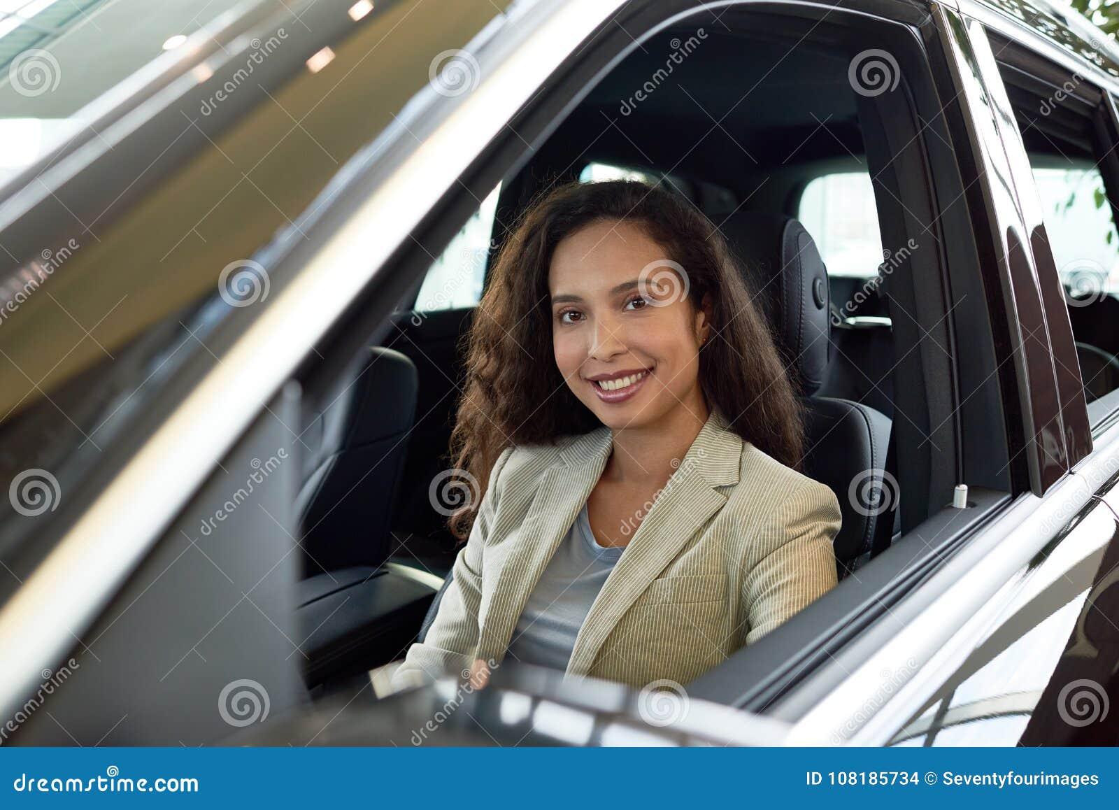 Joyful Owner of New Car stock photo  Image of mixed - 108185734