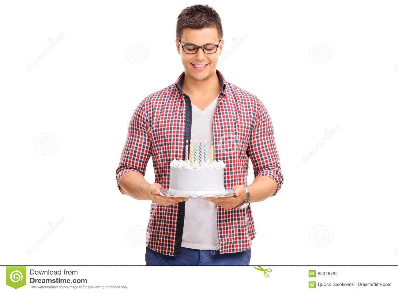 Person Holding Birthday Cake Stock Image