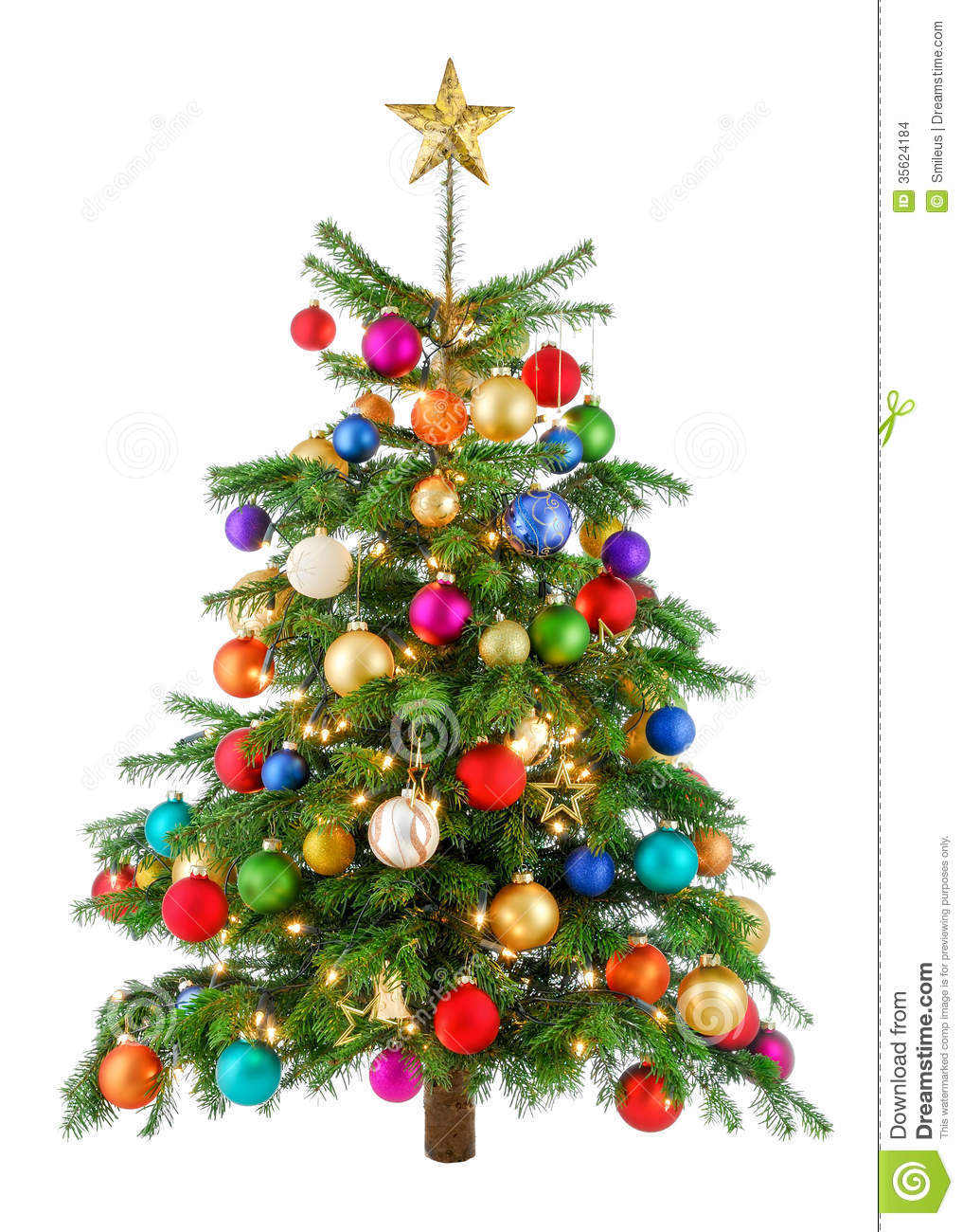 Joyfully Colorful Christmas Tree Stock Images Image