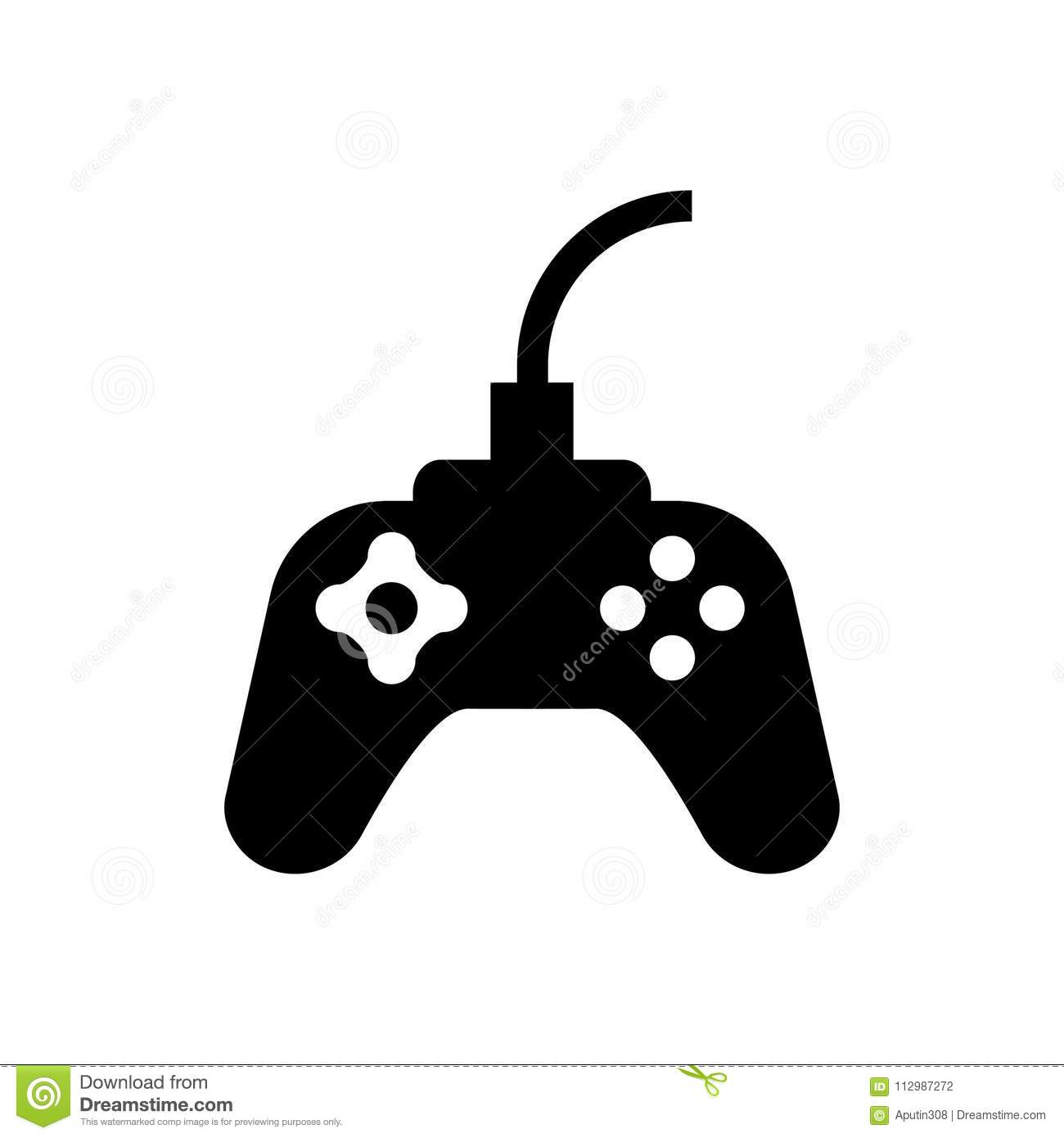 Joystick web icon vector. black isolated