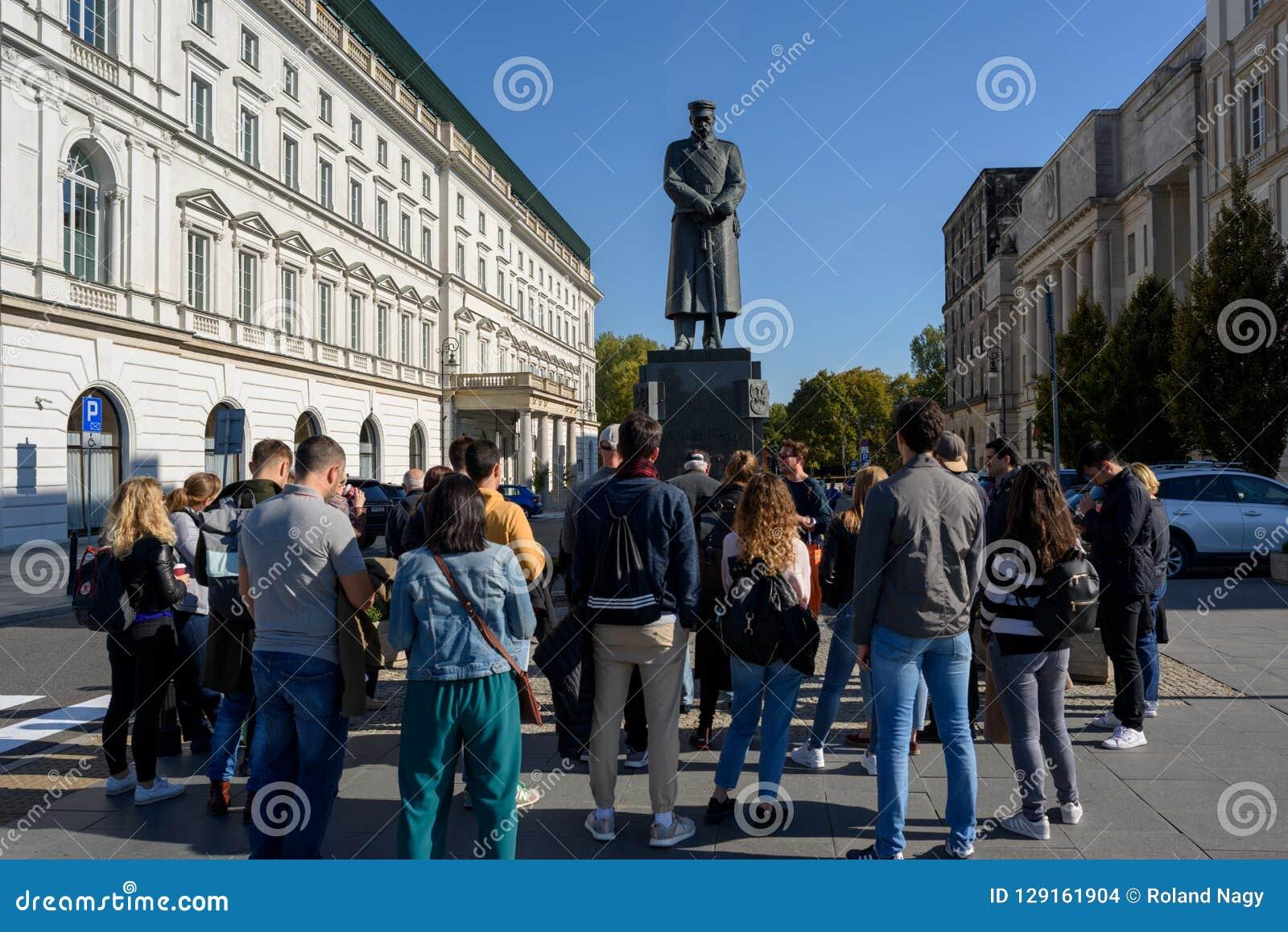 Jozef Pilsudski Monument in Warschau,