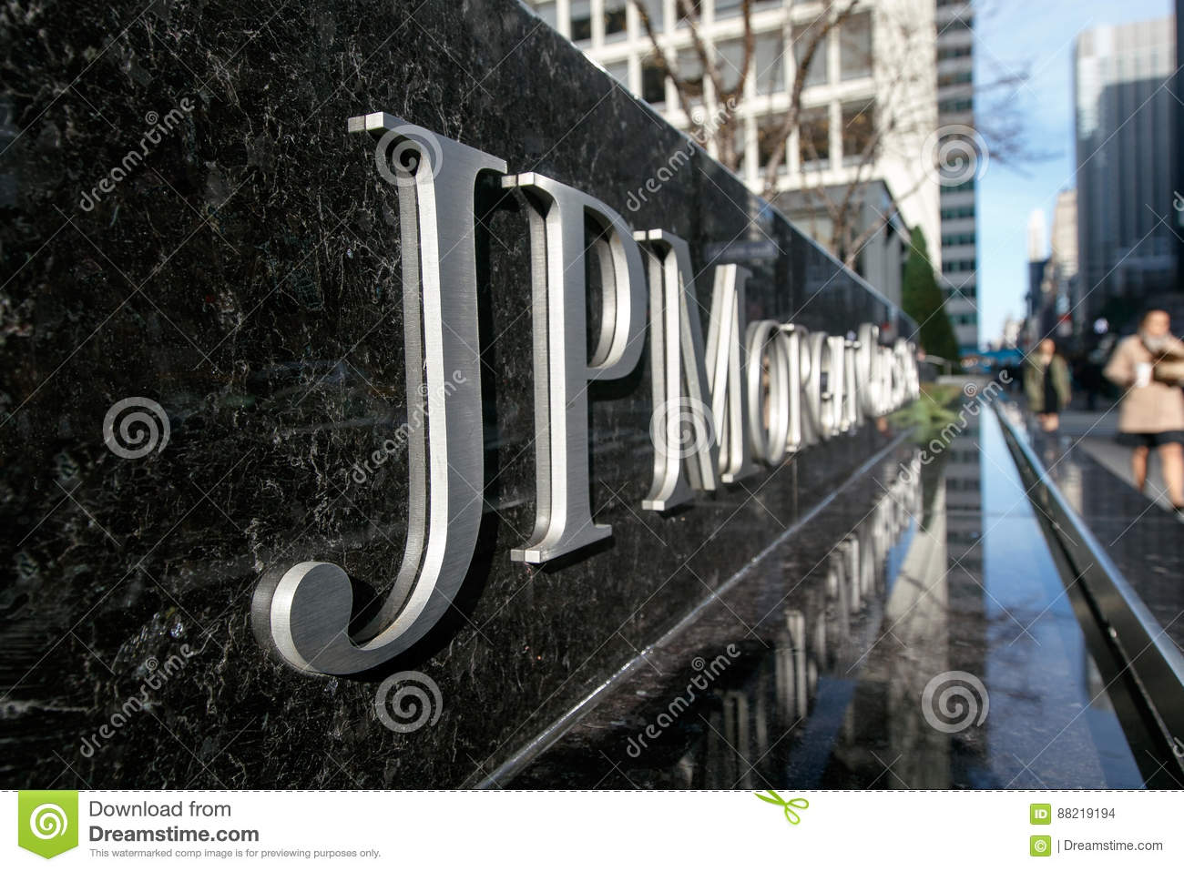 JP Morgan Chase Corporate Sign Editorial Stock Image - Image