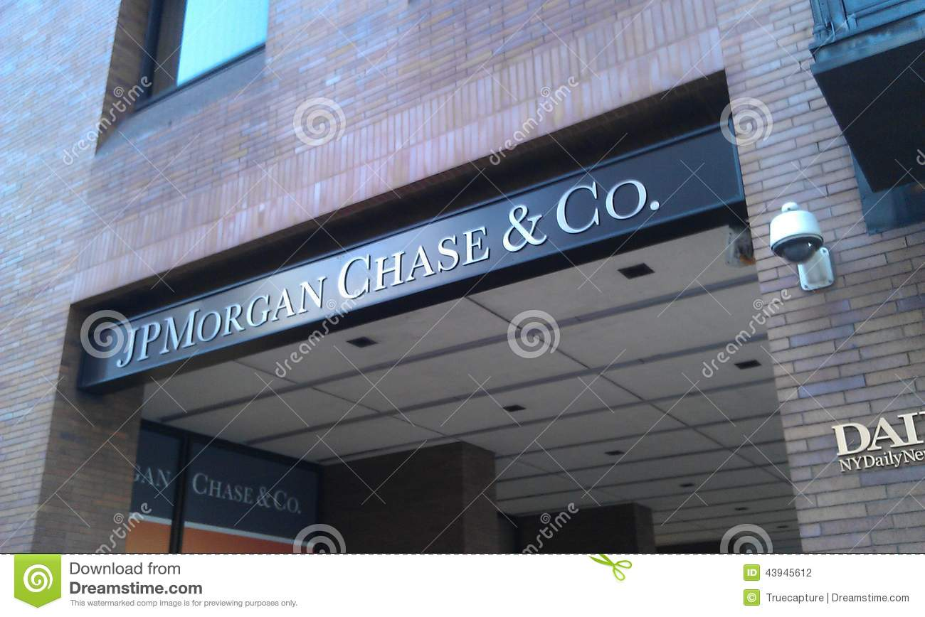 Jp Morgan Chase In New York Editorial Photography Image 43945612