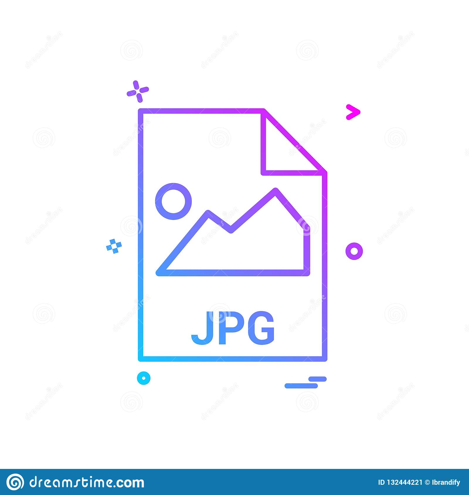 Jpg File File Extension File Format Icon Vector Design Stock