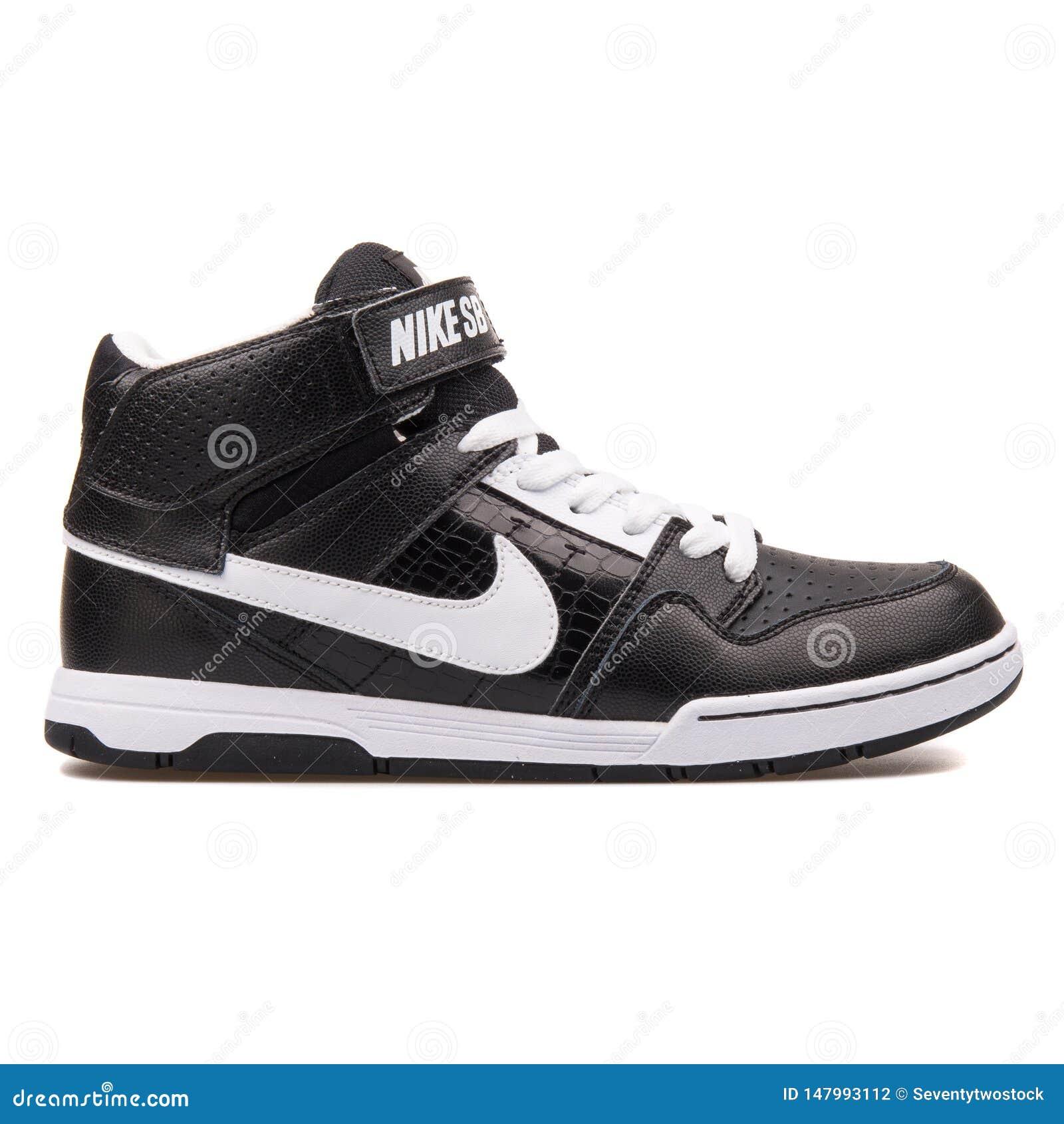 JR zapatilla de deporte blanco y negro de Nike Mogan Mid 2