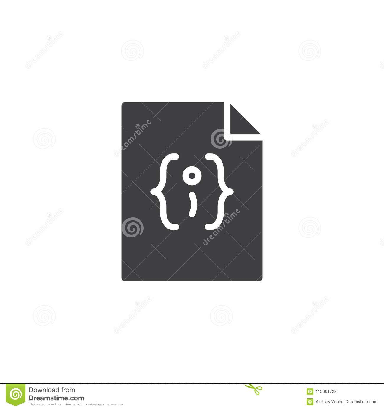 Json File Format Vector Icon Stock Vector - Illustration of