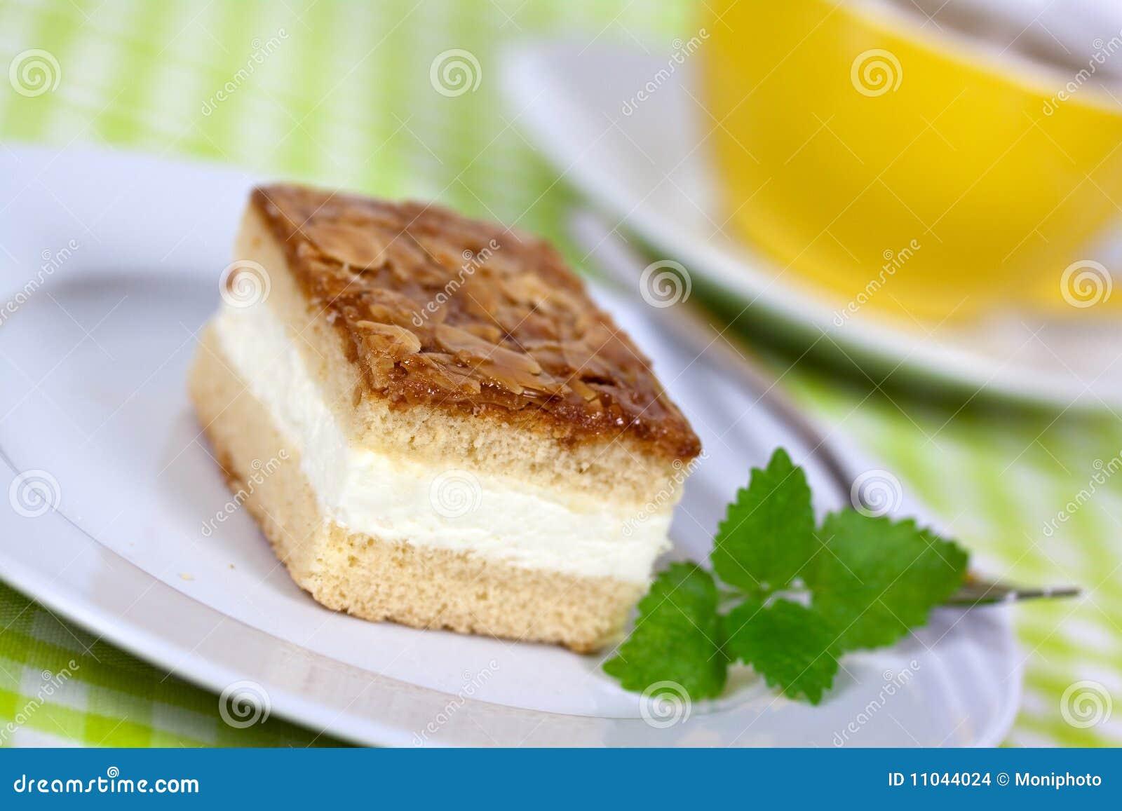 Jtasty Sahnec Honig Mandel Kuchen Stockfoto Bild Von Sahne Honig