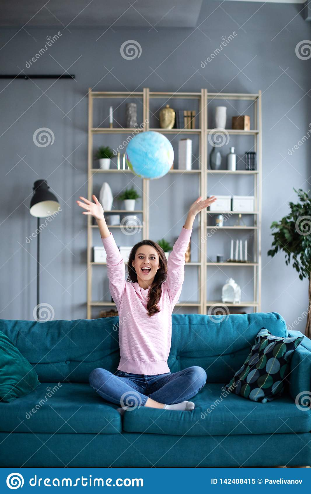 Jubilant Successful Young Planning A Vacation With World