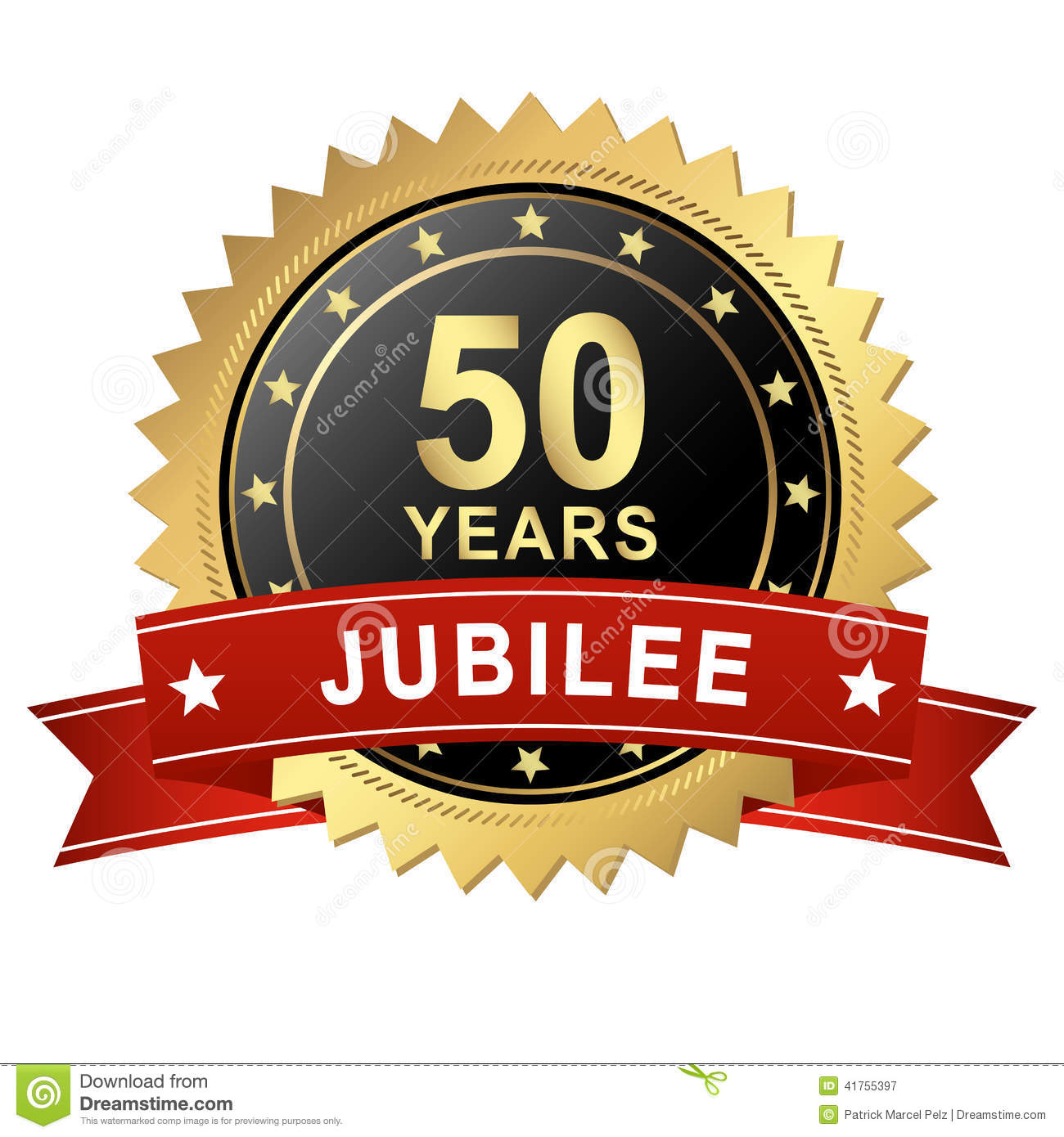 Jubilee button with banner 50 years stock vector illustration jubilee button with banner 50 years buycottarizona Choice Image