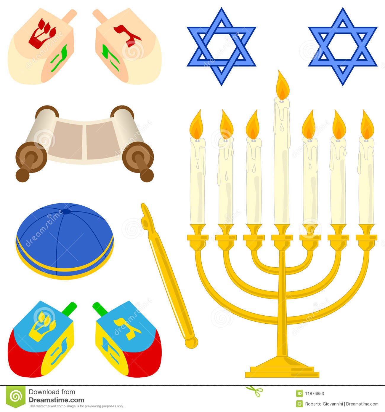 Judaism elements collection stock vector illustration of clip judaism elements collection biocorpaavc Gallery
