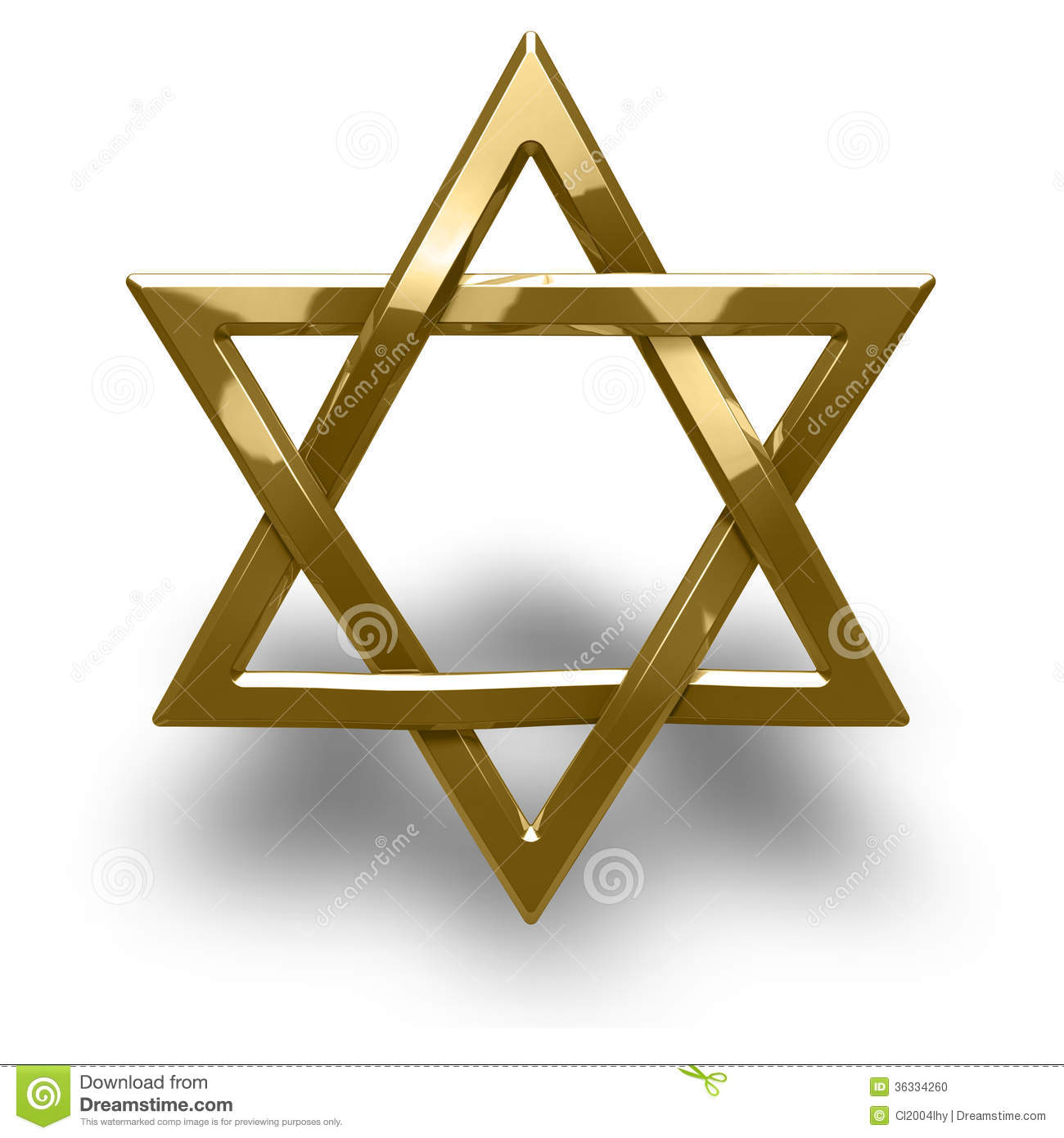 Judaism Religious Symbol Star Of David Stock Illustration