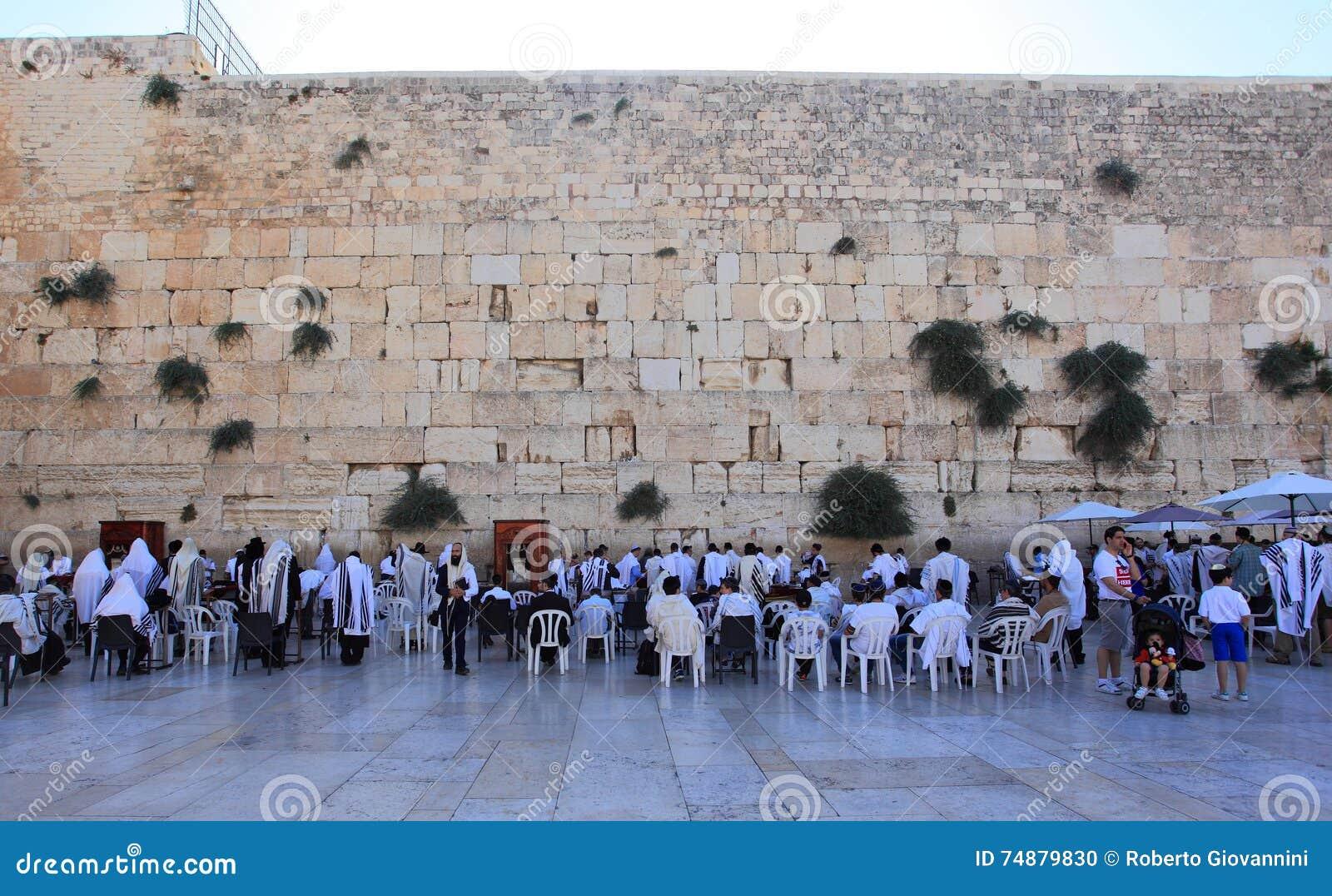 Judeus que rezam na parede ocidental, Jerusalém