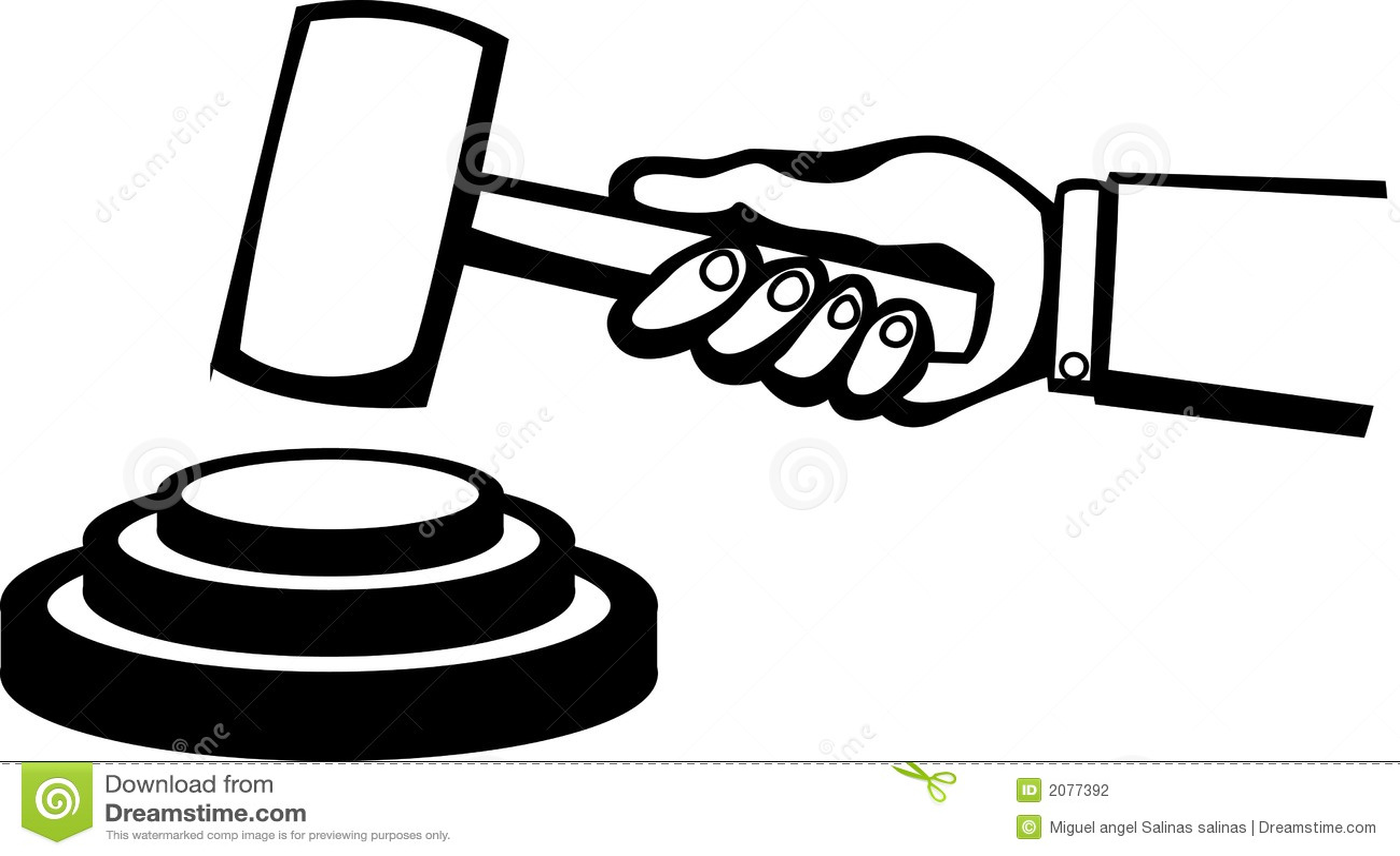 Vector Illustration Hammer: Judge Or Auction Hammer Vector Illustration Stock