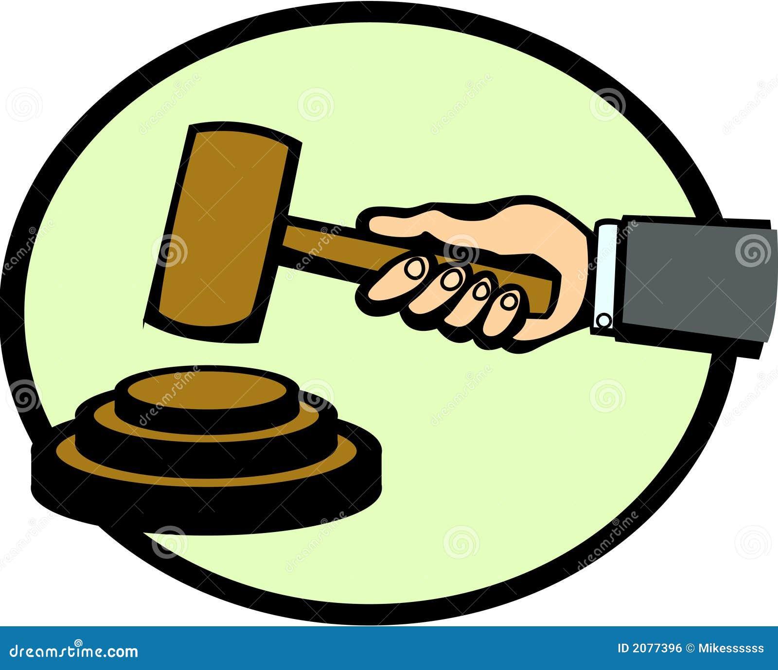 Vector Illustration Hammer: Judge Or Auction Hammer Vector Illustration Stock Vector