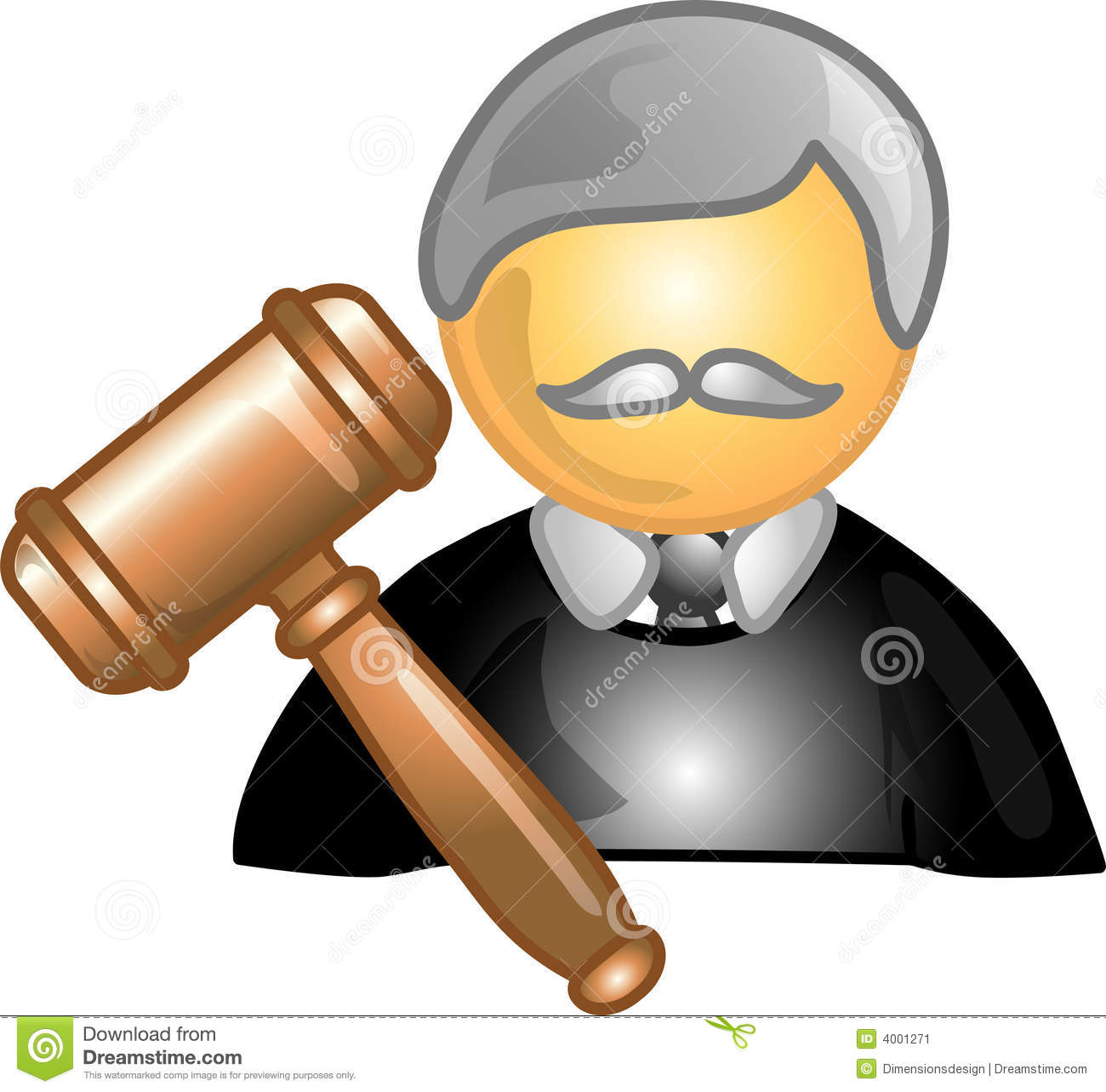 Illustration of a judge icon, that can be used as a symbol, bullet ...