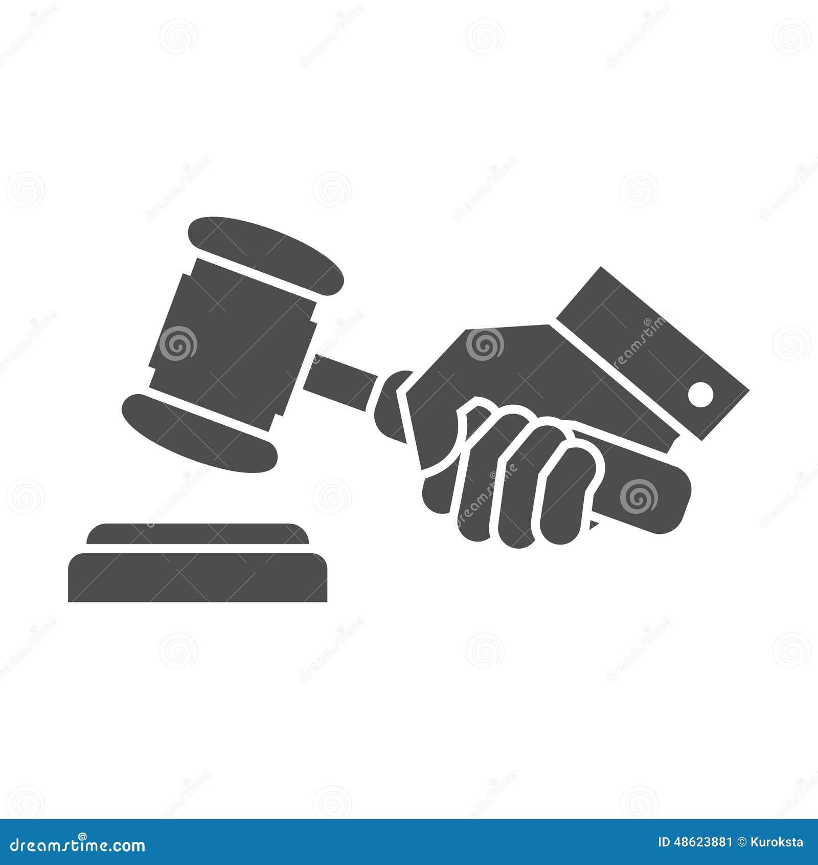 Judge Gavel In Hand Stock Vector - Image: 48623881