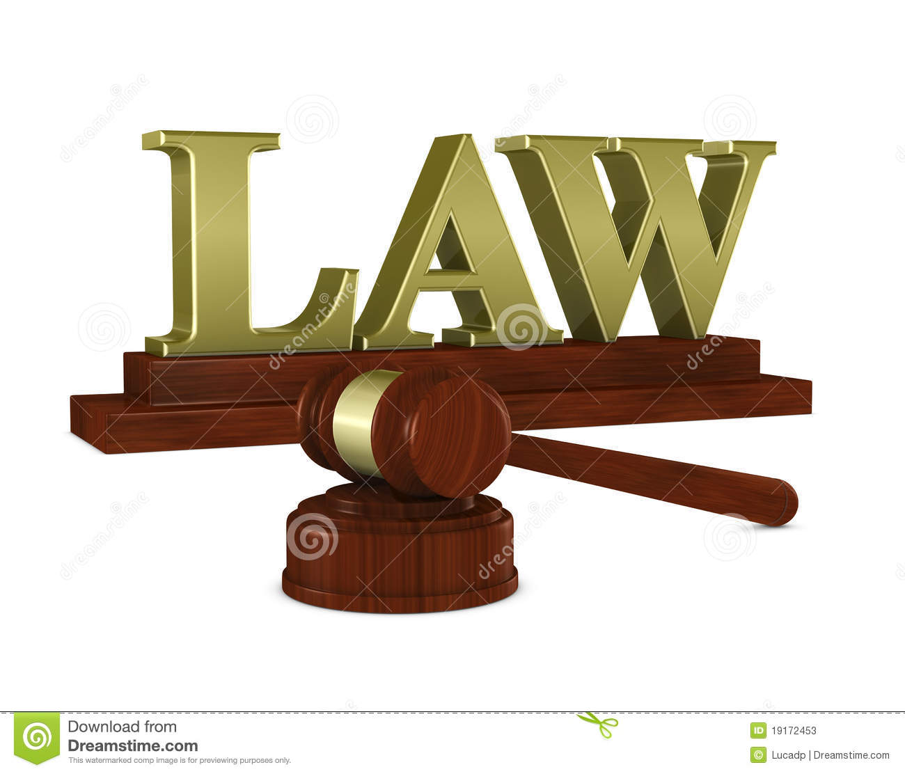Judge Hammer And Stock Illustration Of Gavel