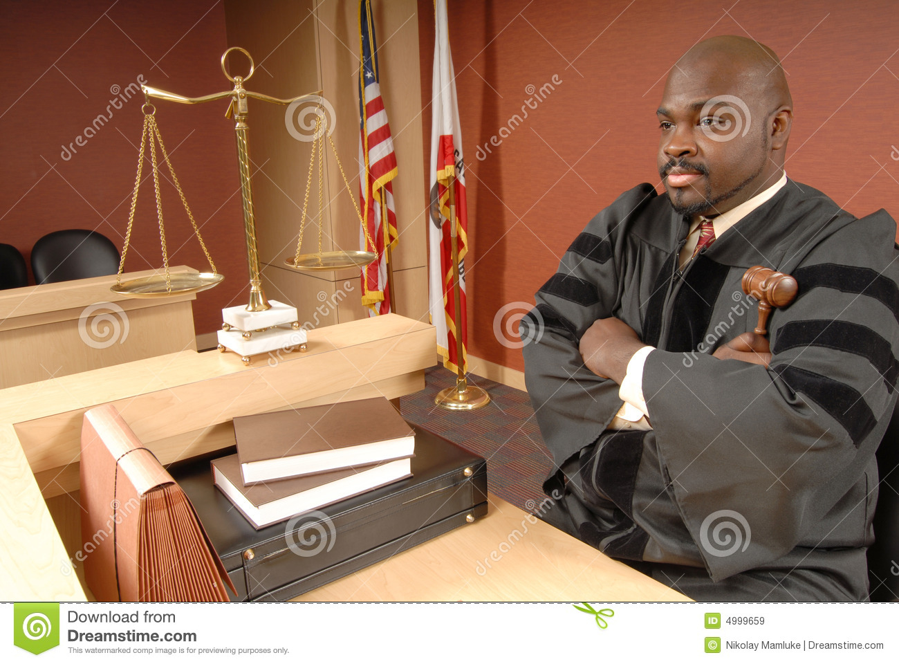 Judge In His Courtroom Royalty Free Stock Images - Image: 4999659