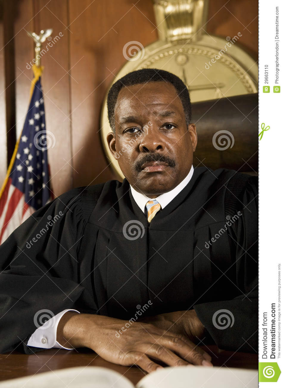 Judge Sitting In The Courtroom Royalty-Free Stock Image ...