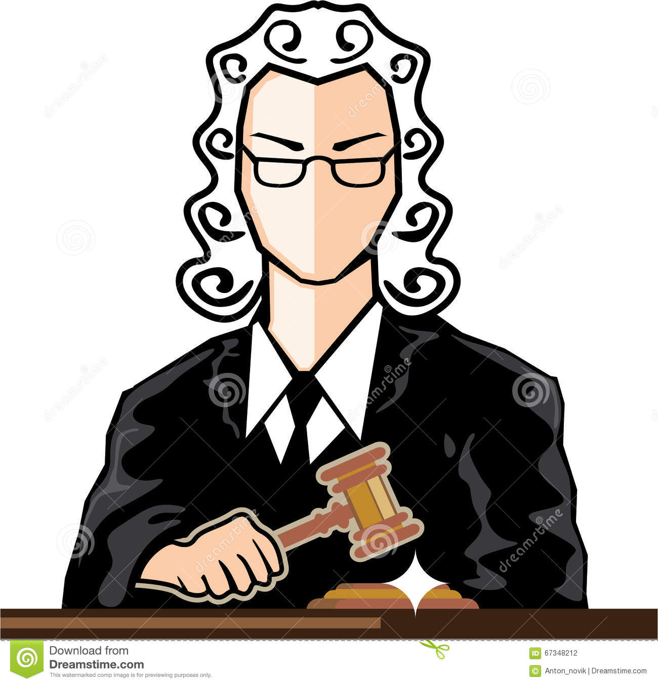 judge vector persona stock vector illustration of judicial 67348212 rh dreamstime com judge clipart free clip art judgment day