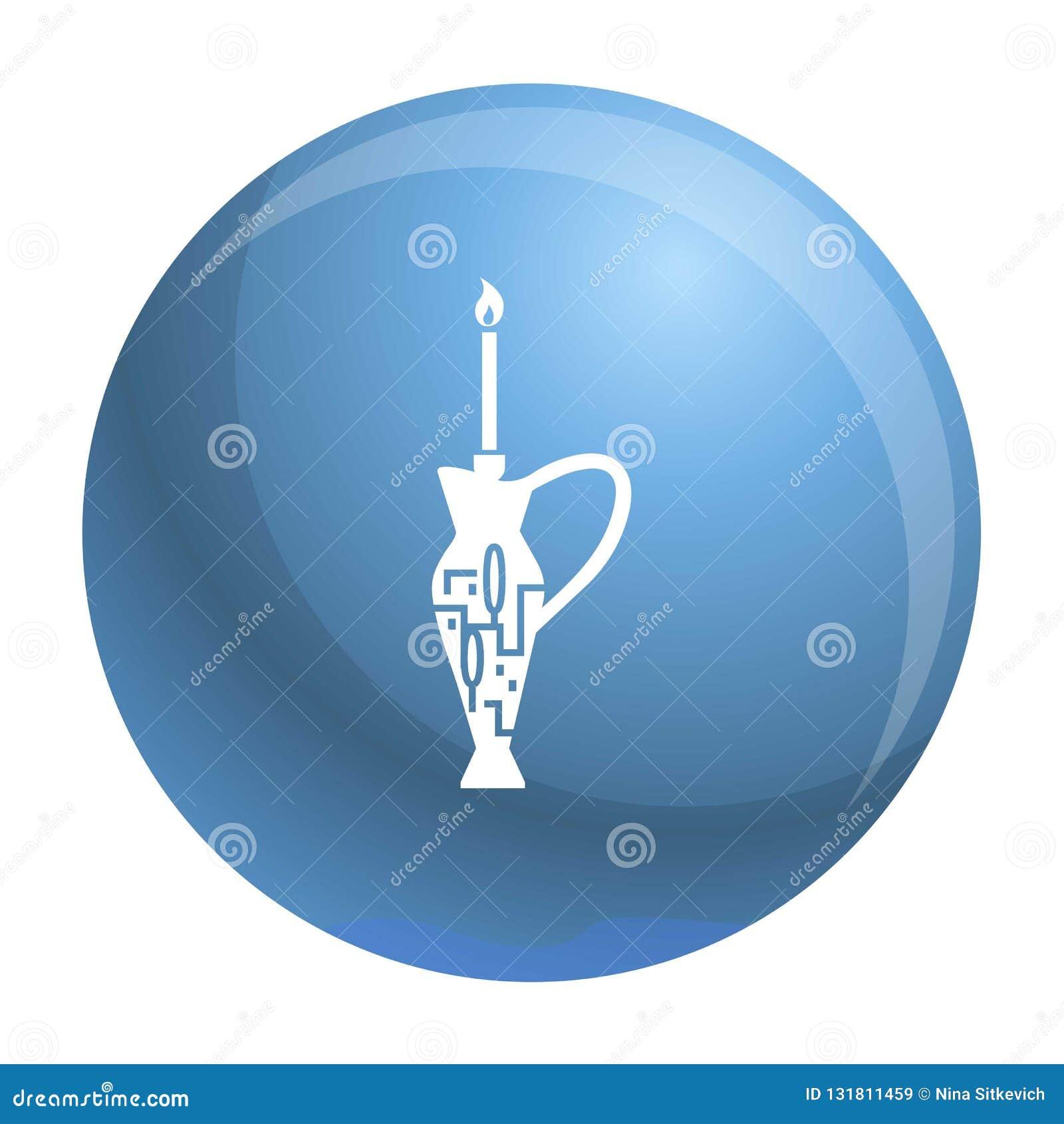 Judisk symbol för för stearinljuspinne och tillbringare, enkel stil