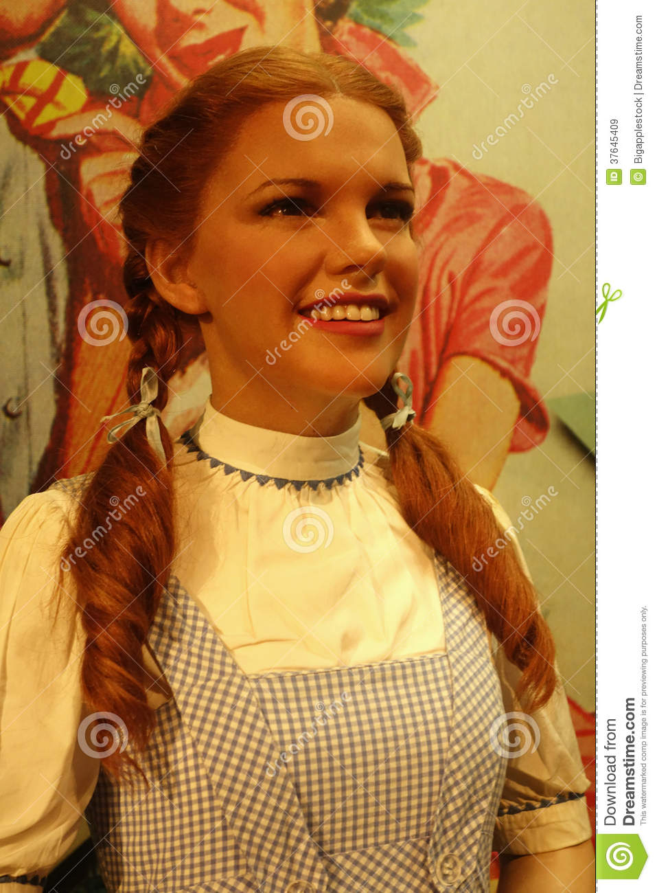 wax figure of Judy Garland, dressed as Dorothy in The Wizard of Oz ...
