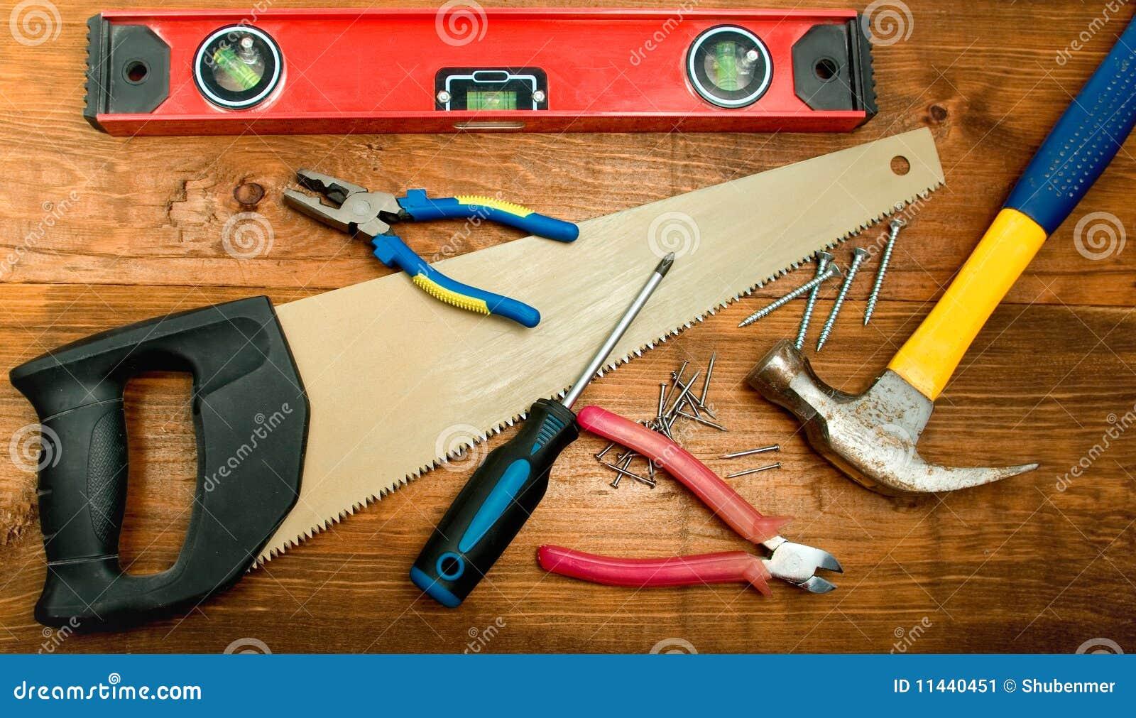 Juego de herramientas del carpintero imagen de archivo - Herramientas de carpinteria nombres ...