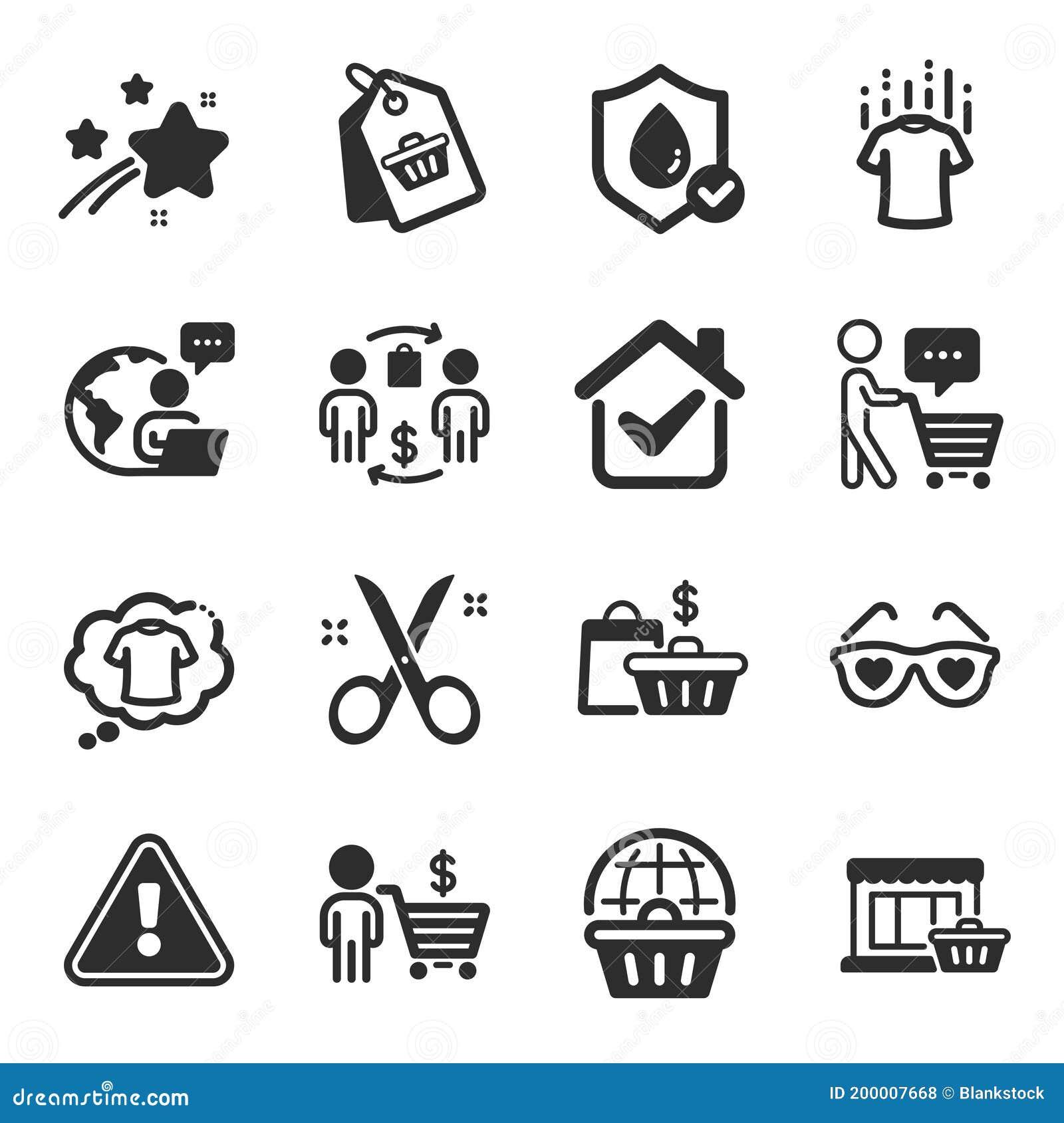Juego De Iconos De Moda Como La Etiqueta De Venta Bolsas De Venta Símbolos De Pensamiento Del Comprador Vector Ilustración Del Vector Ilustración De Problema Papel 200007668