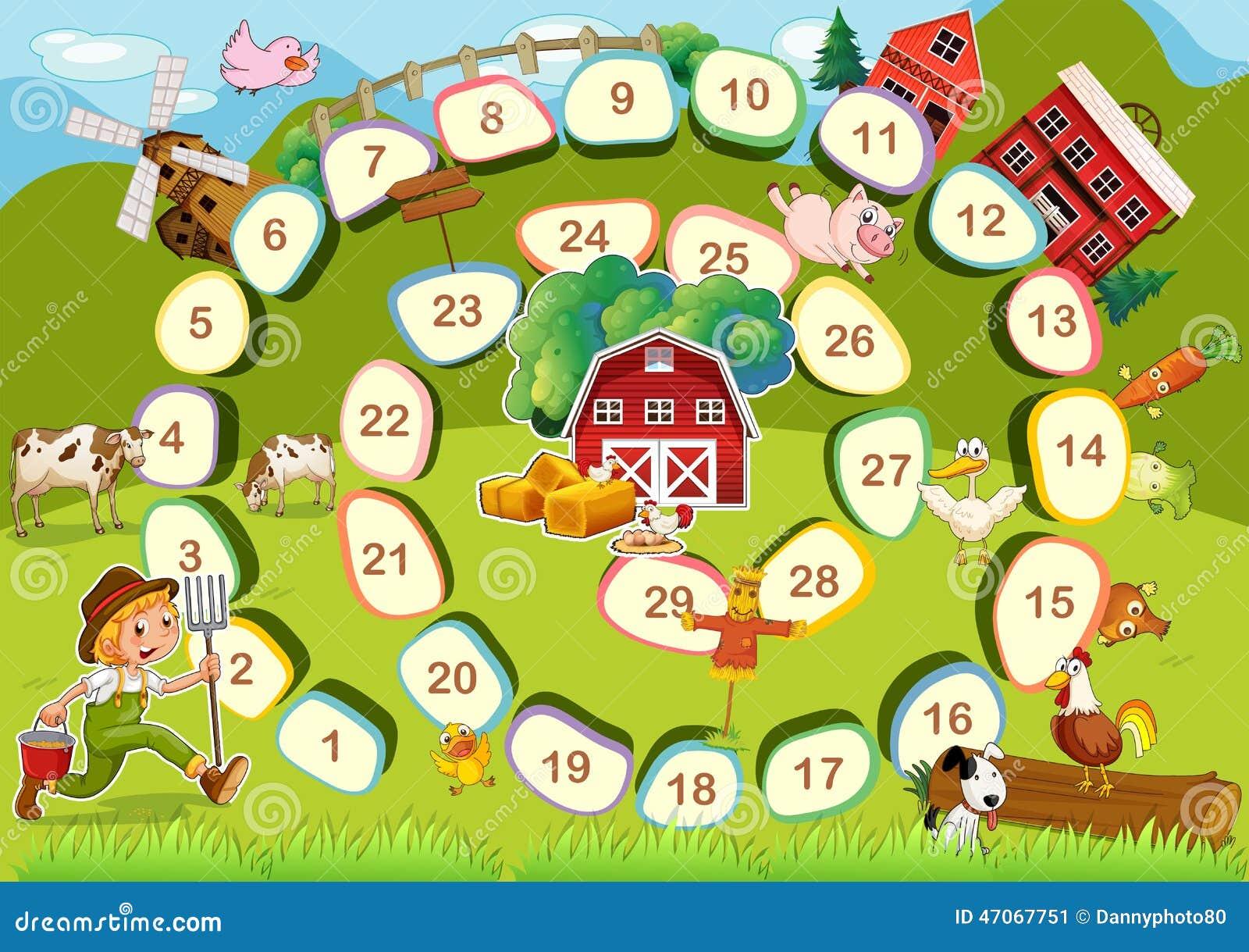 juego de mesa de la granja ilustraci n del vector imagen